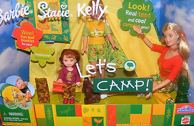 Barbie Stacie Kelly Let's Camp dolls and playset