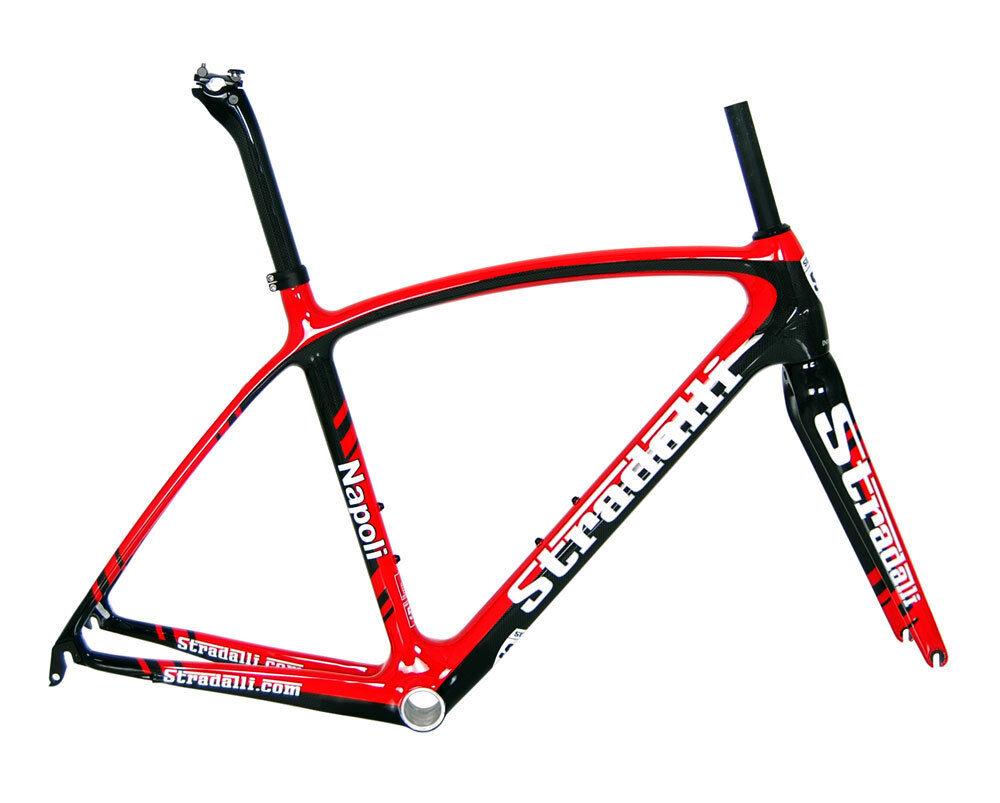 STRADALLI NAPOLI FULL CARBON ROAD BIKE RACE BICYCLE FRAMESET FRAME  BB30 XL 58