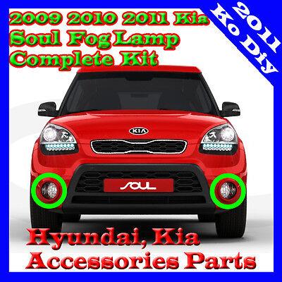 Fog Lamp Light Complete Kit Full Wiring Harness For 2009 2010 2011 Kia Soul OEM