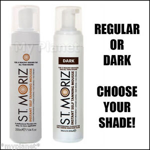 ST-MORIZ-INSTANT-SELF-FAKE-TAN-TANNING-MOUSSE-200ml-UNISEX-PICK-YOUR-SHADE-NEW