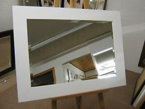 NEW-LARGE-3-FLAT-WHITE-SOLID-OAK-FRAMED-OVERMANTLE-WALL-MIRROR
