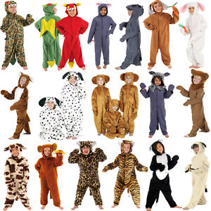 Children-s-Kids-Boys-Girls-Zoo-Jungle-Farm-Animal-Fancy-Dress-Up-Costume-Outfit