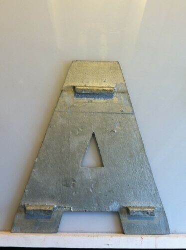Vintage Movie Theatre Marquee Letters-10 Inch Metal-Thin with Beveled Edges
