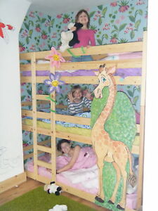 Triple-bunk-beds-Tri-Bunk-bed-3-High-Bunk-Beds-Two-widths-can-be-made-shorter