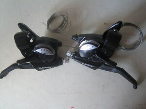 Shimano-Tourney-18-speed-6-amp-3-speed-cycle-bike-brake-levers-gear-shifters