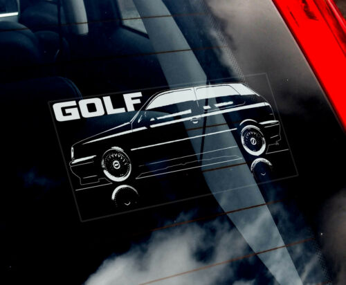 VW Golf MK3 - Car Window Sticker - 1991-99 Volkswagen Dub Performance MKIII