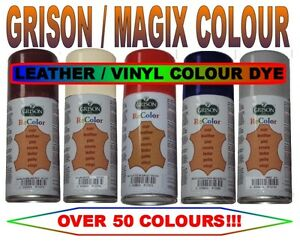 magix grison 150ml leather vinyl dye spray all colours shoes boots car seats ebay. Black Bedroom Furniture Sets. Home Design Ideas