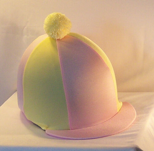 Chapeau Équitation Housse-rose layette /& Citron Pâle