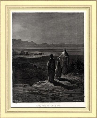 Dante,Virgilio e Catone Uticense.Divina Commedia.Purgatorio.Di Gustave Doré.1890