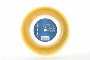 Tecnifibre Tennis String Synthetic Gut 1.35mm/15L - 200m Reel Gold - Free UK P&P