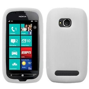 For-Nokia-Lumia-710-Rubber-SILICONE-Soft-Gel-Skin-Case-Phone-Cover-White