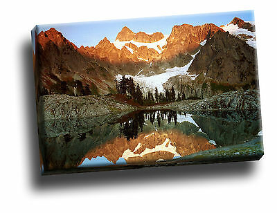 Mount Shuksan and Lake Ann, Washington Canvas Picture Art