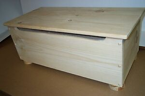 Toy Chest Quilt Storage flat top PINE WOOD LID SUPPORT functional, hand made