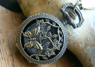 Unusual Rare gifts for her him men womens Girls Pocket Watches Necklace Vintage