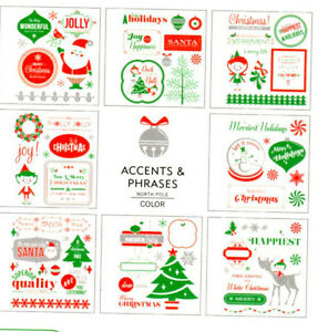 american crafts north pole christmas remarks stickers