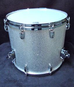 Gretsch usa custom nos 14 x 16 floor tom drum silver for 16 floor tom drum