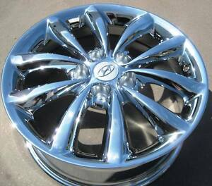 set of 4 new factory hyundai 17 azera chrome oem wheels. Black Bedroom Furniture Sets. Home Design Ideas