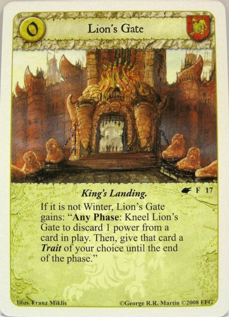 A Game of Thrones LCG - 1x Lion's Gate  #017 - A Song of Summer