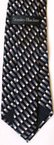 New Genuine STANLEY BLACKER boy/'s silk tie age 8-15 ye