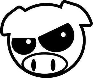 JDM-ANGRY-MAD-PIG-CAR-SUBARU-VINYL-DECAL-STICKER-colour