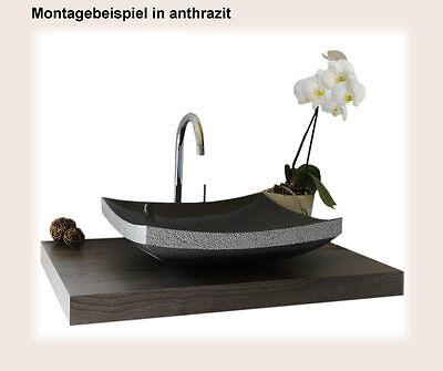 Waschbecken aus Naturstein, Granit, Model Dublin, anthrazit, G654, 45x40cm