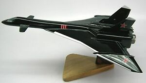 Mikoyan-Mig-31-Firefox-Fighter-Airplane-Wood-Model-Replica-Small-Free-Shipping