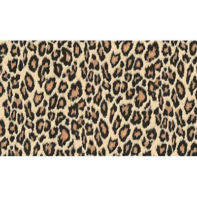 1.5m X 45cm ANIMAL SKIN  LEOPARD STICKY BACK PLASTIC VINYL FILM SELF ADHESIVE NW