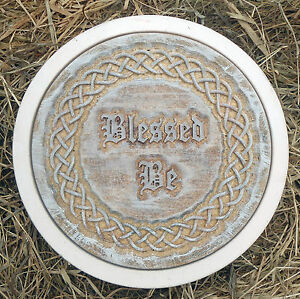 concrete Pagan wicca celtic stepping stone plastic mold blessed be