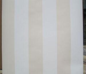 YORK-TAN-BEIGE-WHITE-STRIPE-wallpaper-Double-Roll
