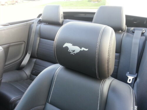 2015-2016 FORD MUSTANG HEADREST SOLID PONY DECALS - ONLY LEATHER SEATS 15-16