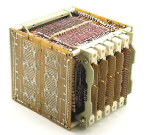 USSR-Soviet-Russian-Military-Ferrite-Core-Memory-Stack-Cube-MANUAL-QUITE-RARE