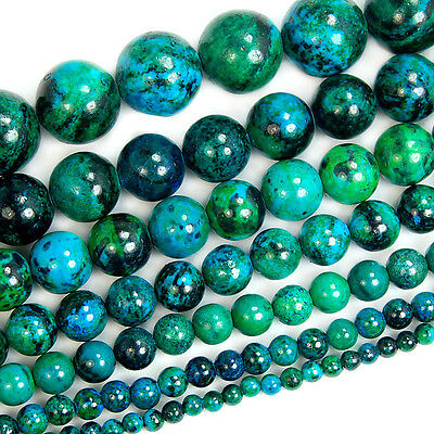 """Synthetic Chrysocolla Gemstone Round Loose Spacer Beads 15"""" 4mm ~ 16mm"""
