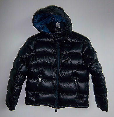 NWT MONCLER JUNIOR Navy Blue DOWN HOODED JACKET SIZE 8 Yrs KIDS boy/girl Puffer