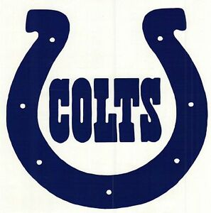NFL FOOTBALL CORNHOLE CAR INDIANA COLTS VINYL DECAL EBay - Colts custom vinyl decals for car