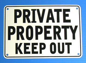 034-PRIVATE-PROPERTY-KEEP-OUT-034-WARNING-SIGN-METAL