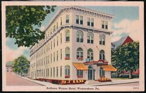 Image Is Loading Waynesboro Pa Anthony Wayne Hotel Restaurant Vtg Postcard