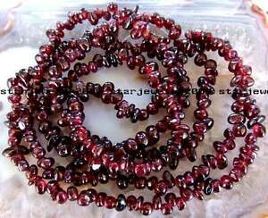 high-quality-3x5-3x6mm-Natural-Red-Garnet-Freeform-chip-Beads-34-034-new-gemstone