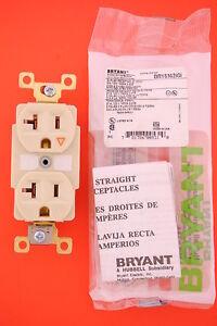 Bryant-5362IGI-20A-125V-Ivory-Duplex-Receptacle-With-Isolated-Ground-NEMA-5-20R