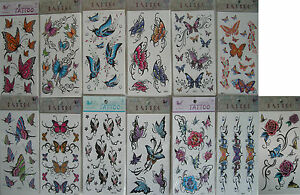 body-art-transfer-temporary-tatoo-roses-party-bags-butterflys-mix-colour-design
