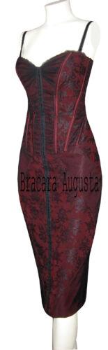 KAREN MILLEN BLACK & RED LACE CORSET VERY RARE DRESS SZ 8 BNWT