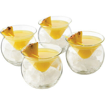 Libbey Cool Cocktail Thriller Chiller 2 Piece Martini Glasses - Set of 6 - Bar