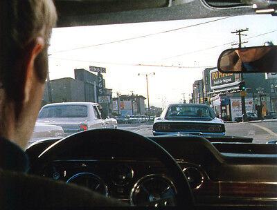 STEVE McQUEEN:  Bullitt 8x10  DODGE CHARGER color #9 driving FORD MUSTANG