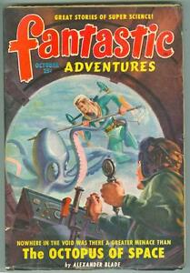 Fantastic-Adventures-October-1949-G-VG-The-Octopus-of-Space