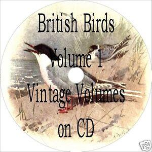 27-OLD-BOOKS-BRITISH-BIRDS-CD-BRITAIN-ISLES-ANTIQUE-BIRD-BOOK-COLLECTION