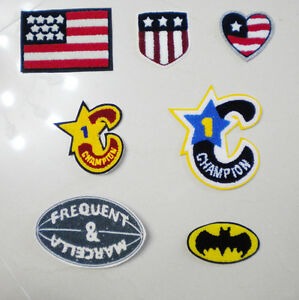 New-Chenille-Alphabet-America-Patch-for-Varsity-Letterman-Jacket-FREE-SHIPPING