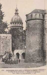 62-cpa-BOULOGNE-s-Mer-Les-remparts-du-chateau