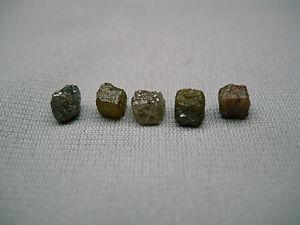 5-Carats-4-Raw-Natural-Uncut-ROUGH-DIAMONDS-Cubes-Gems