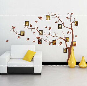 Large-Photo-Frame-Tree-REMOVABLE-Wall-Stickers-Vinyl-Home-Art-Decals