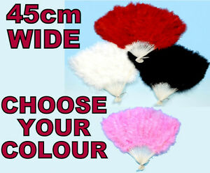 BURLESQUE-SOFT-FEATHER-FAN-SHOWGIRL-FLAMENCO-FANCY-DRESS-RED-BLACK-PINK-WHITE