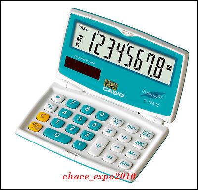 Brand New Casio Mini Slim Solar Power Pocket Calculator SL-100VC BU